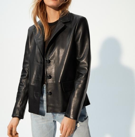 Aritzia inspired Genuine Leather Blazer